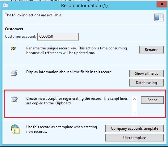 script - record info
